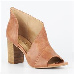 MISS BLACK TAN TINOS CUT OUT BLOCK HEEL