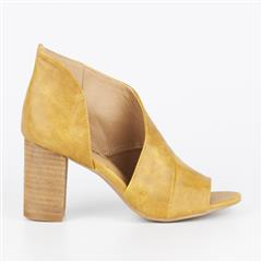 MISS BLACK YELLOW TINOS CUT OUT BLOCK HEEL