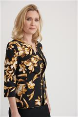 JOSEPH RIBKOFF BLACK BROWN FLORAL TWINSET