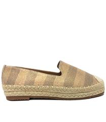 JOLIE CHAMPAGNE STRIPED ESPADRILLE SLIP- ON