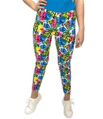 JOLIE MULTICOLOUR KATIE BUTTERFLY PRINTED PANTS