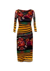 JOLIE COWL NECK DRESS - MULTI COLOUR