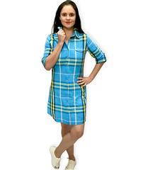 JOLIE BLUE YELLOW ANNIE SHIRT DRESS