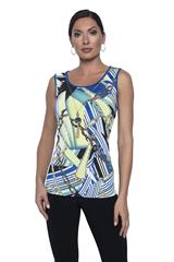 FRANK LYMAN LIME ROYAL CHAIN PRINT CAMISOLE