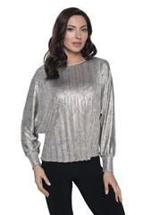 FRANK LYMAN GOLD PLEATED TOP