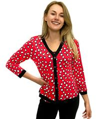 JOLIE RED WHITE POLKA DOT TAMMY TWINSET