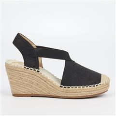 BUTTERFLY FEET BLACK NOA3 ESPADRILLE WEDGE