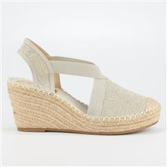 BUTTERFLY FEET SILVER NOA3 ESPADRILLE WEDGE