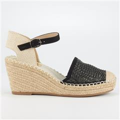 BUTTERFLY FEET BLACK VIRGO ESPADRILLE WEDGE