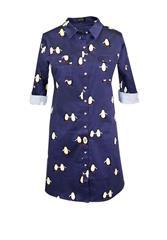JOLIE PENGUIN SHIRT DRESS - NAVY