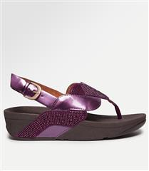 FIT FLOP BEETROOT PAISLEY GLITTER ROPE BACK STRAP SANDAL
