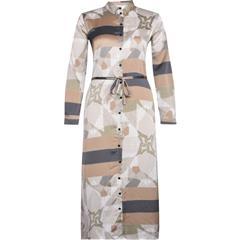 NU CAMEL MIX CODY PATTERNED DRESS