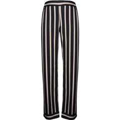 NU BLACK ELINA CALLI STRIPED TROUSERS