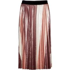 NU BURNED SIENA MIX CAI STRIPED SKIRT